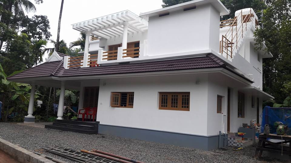 1500 Square Feet 3bhk Kerala Home Design on 4 Bedroom Single Story Floor Plans