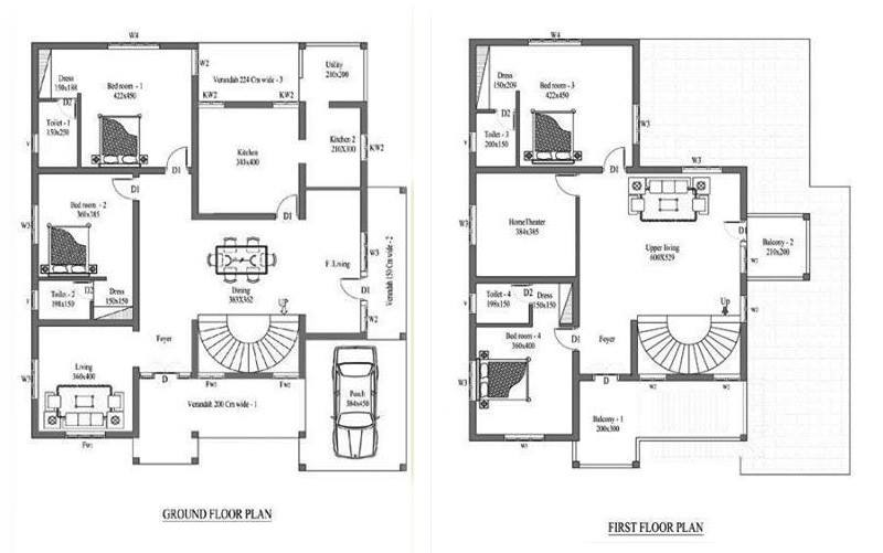 Kerala Home Double Floor Plans