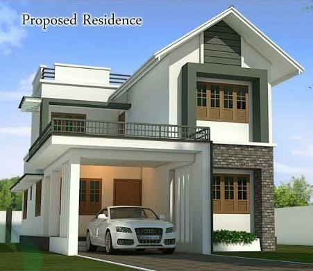 kerala new home design with plan 1 - New Home Designs