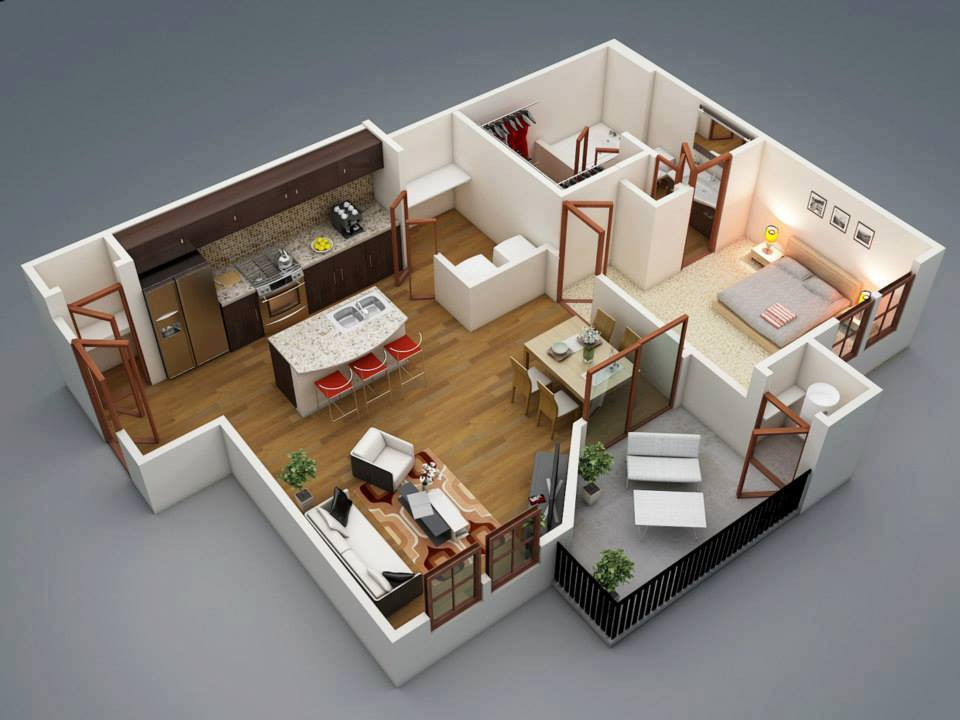 Low Bud 3D Home Plan Home