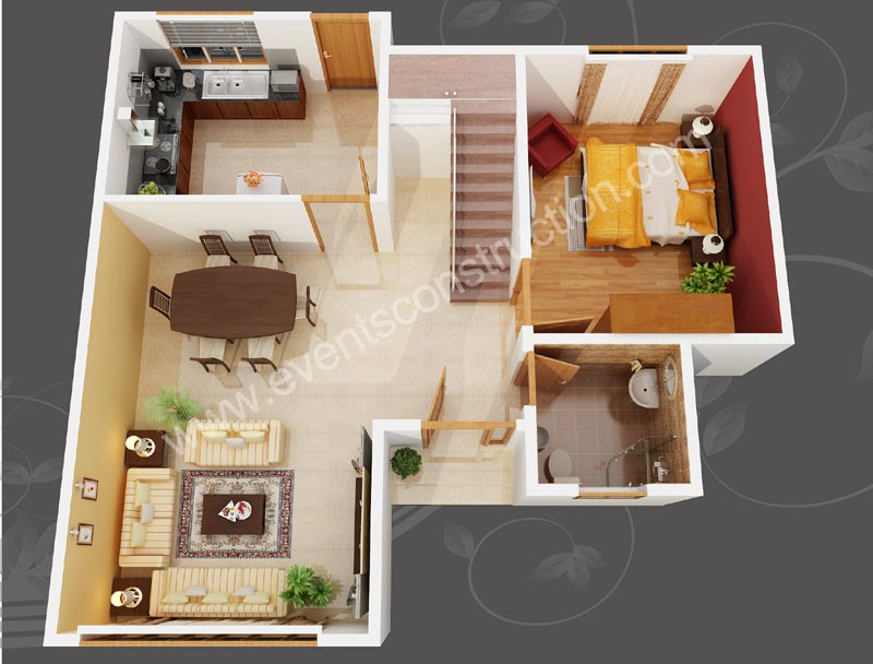 Contemporary design 3d kerala home plans home pictures Latest 3d home design