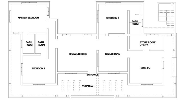 traditional single storeyed home design (1)