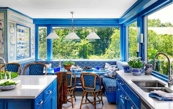 Photo of BRIGHT BLUE KITCHEN