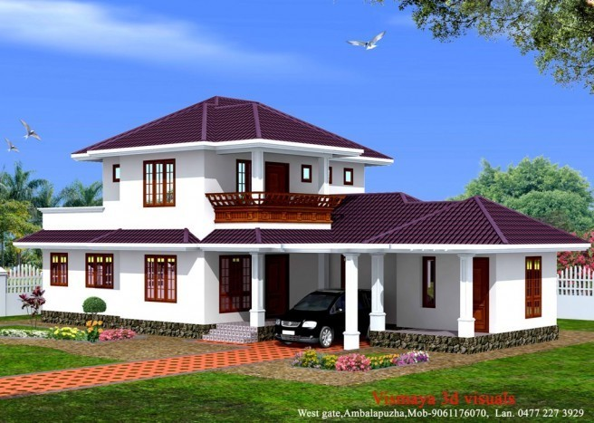 Beautiful Kerala Style Home 1873 sq.ft