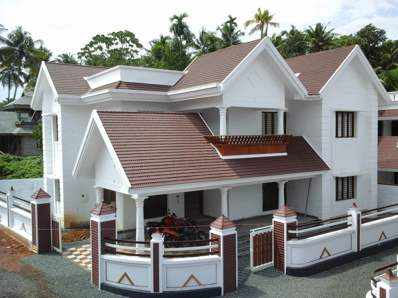 Photo of 2400 square feet, at 7 cents a 4 bedroom villa new home design