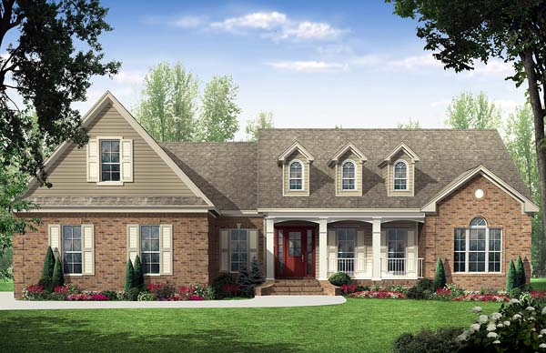 Photo of 2000 sq.ft European Country styling with upscale features home design