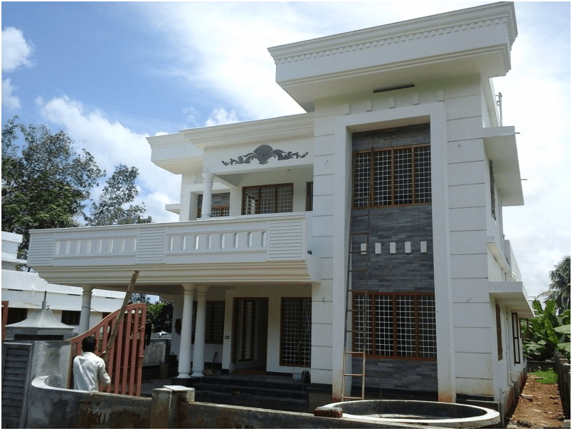 Home Design 2400 Sq Ft Part - 49: Description: The 2,400-square-foot, Four-bedroom House Kalady, Ainuokulan,  Kerala 9 Cents A Good Residential Area Of Land. It Has A Garage, Sitting,  ...