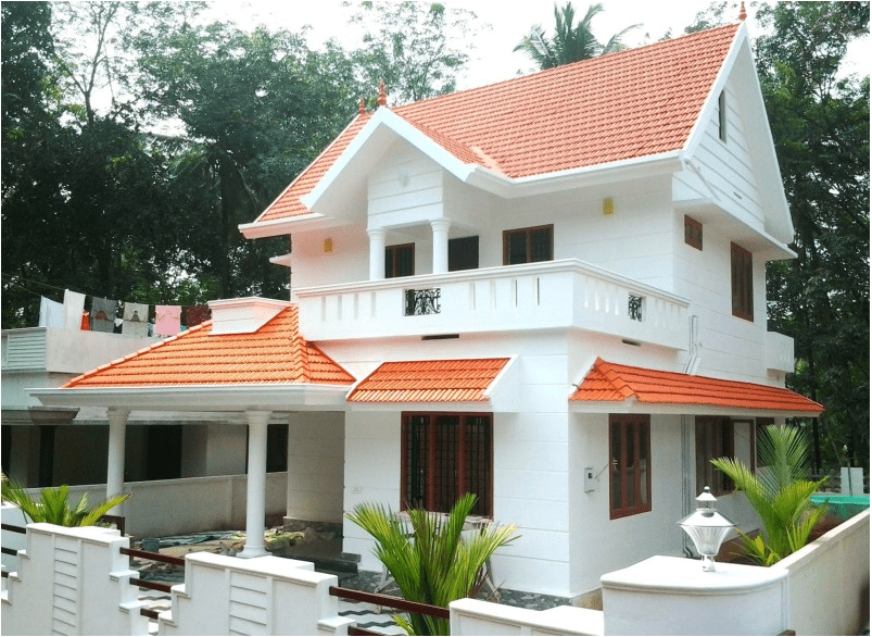 Photo of medium budget home design in karukutty 1700 Sq. Ft.