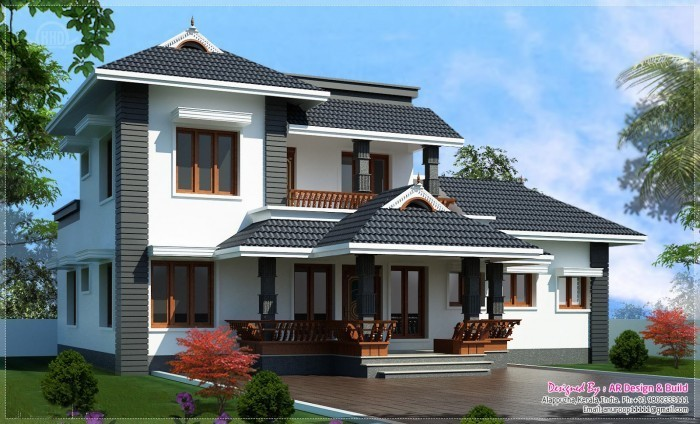 KERALA HOME DESIGN SLOPING ROOF AT 2000 SQ.FT