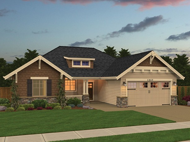 Photo of 1445 sq.ft 3 bedroom 1 story Home design