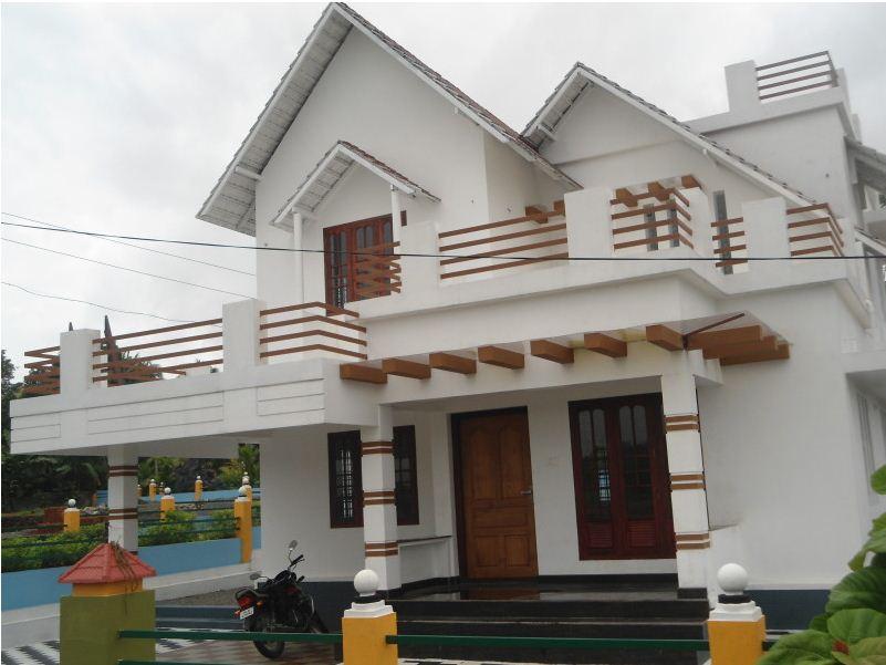1600 square feet or 1800 square feet villa former marine for Car porch design in kerala