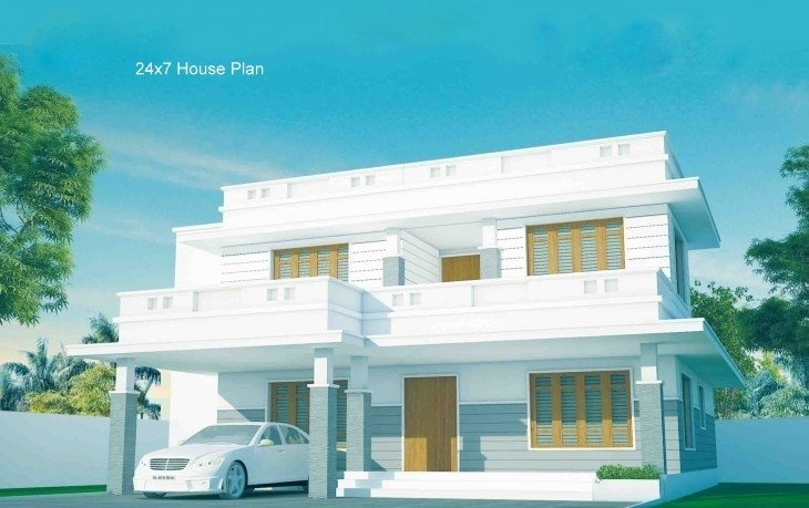 Photo of Contemporary home design plan in 2060 sq ft