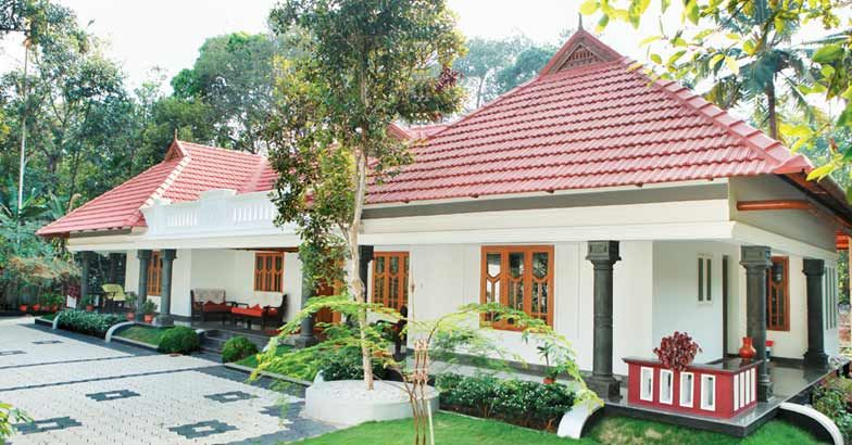 Photo of traditional single storeyed home design