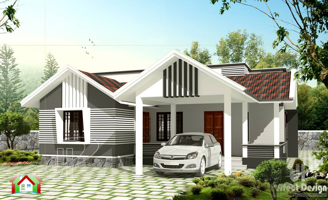 1259 Square Feet Home Design Cost 18 Lakhs