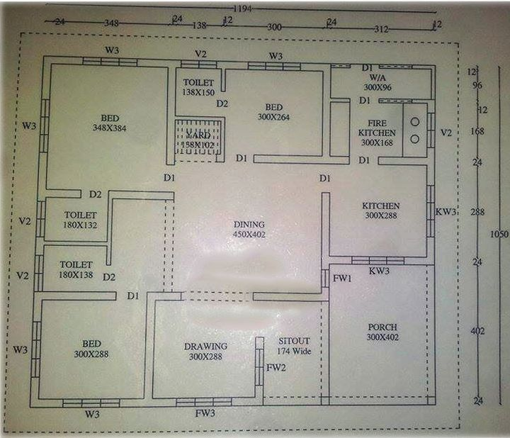 Photo of 1194 Square Feet 3BHK Kerala Home Design With Plan