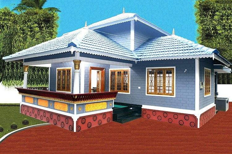 Photo of 850 Square Feet 2BHK Kerala Home Design