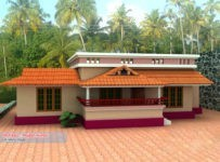 1000 Square Feet 3BHK Low Budget Kerala Home Design With Plan