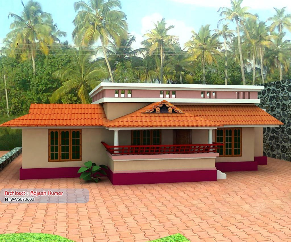 1000 square feet 3bhk low budget kerala home design with for Kerala house plans 1000 square feet