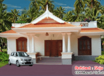 1155 Square Feet Low Budget Kerala Home Design With Plan
