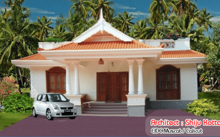 Photo of 1155 Square Feet Low Budget Kerala Home Design With Plan
