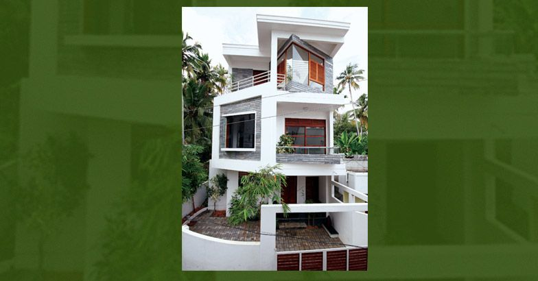 Photo of 1522 Square Feet Three Floor Kerala Home Design In Two Cent