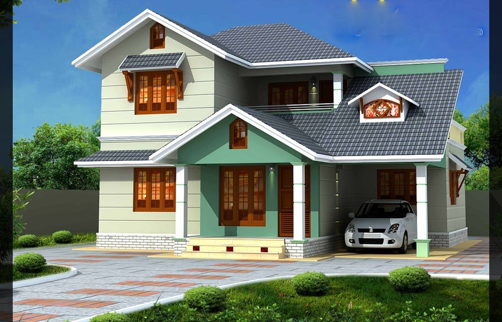 1637 square feet 3bhk kerala beautiful home design with for Attractive home designs