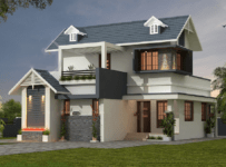 1676 Square Feet 3BHK Beautiful Home Design With Plan