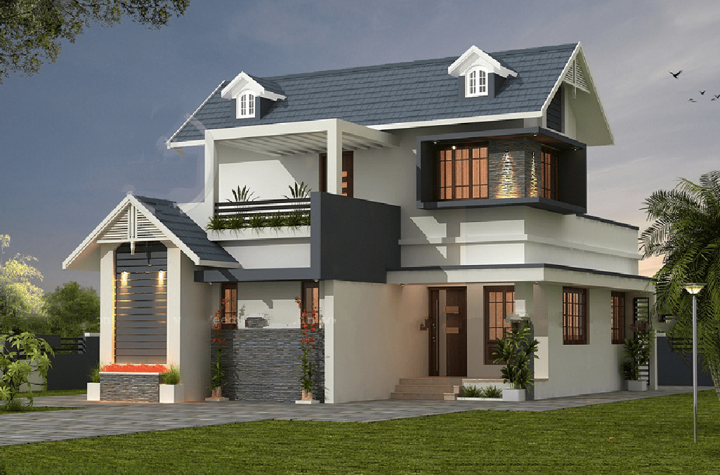 Photo of 1676 Square Feet 3BHK Beautiful Home Design With Plan