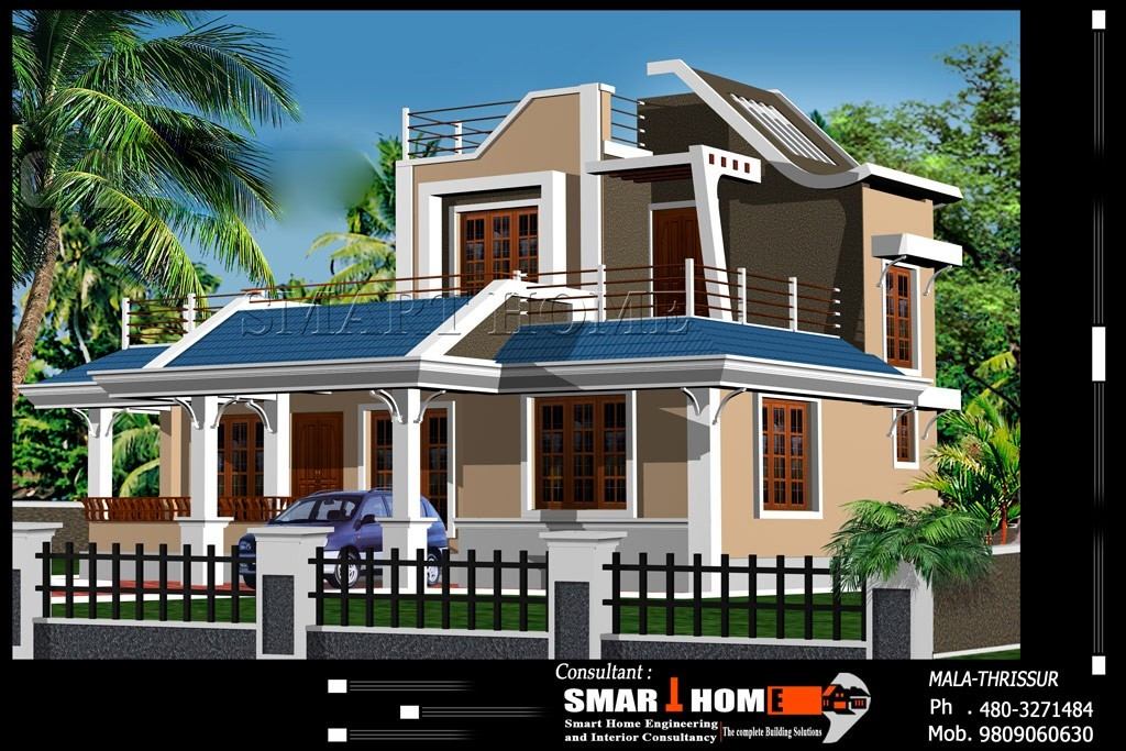 Photo of 1800 Square Feet New Modern Kerala House Design With Plan