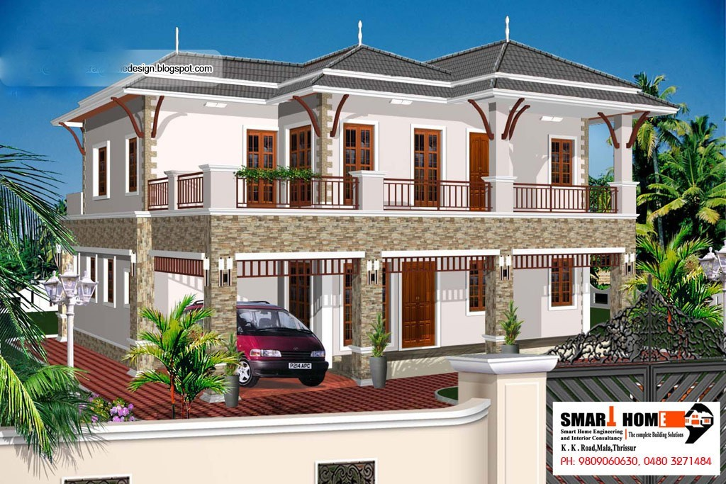 Photo of 1948 Square Feet 4BHK Kerala Home Design With Plan