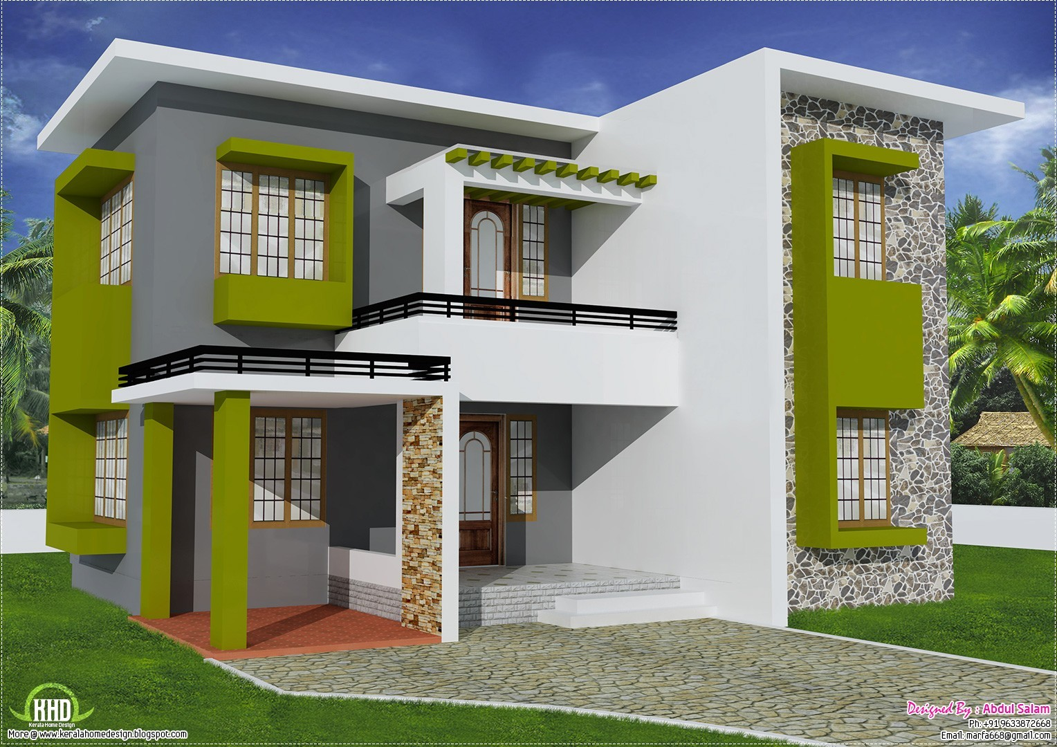 2000 square feet 3bhk kerala home design home pictures House designs 2000 square feet