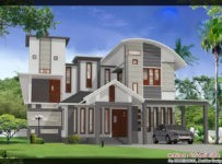 2023 Square Feet 5BHK Kerala Modern Home Design With Plan