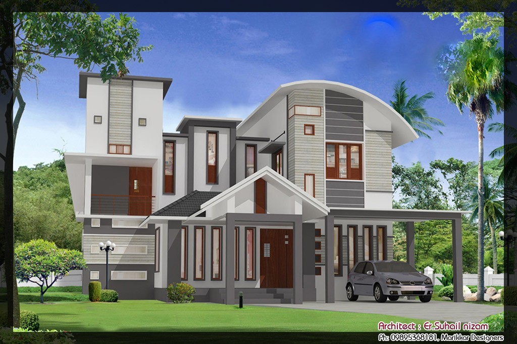 Photo of 2023 Square Feet 5BHK Kerala Modern Home Design With Plan