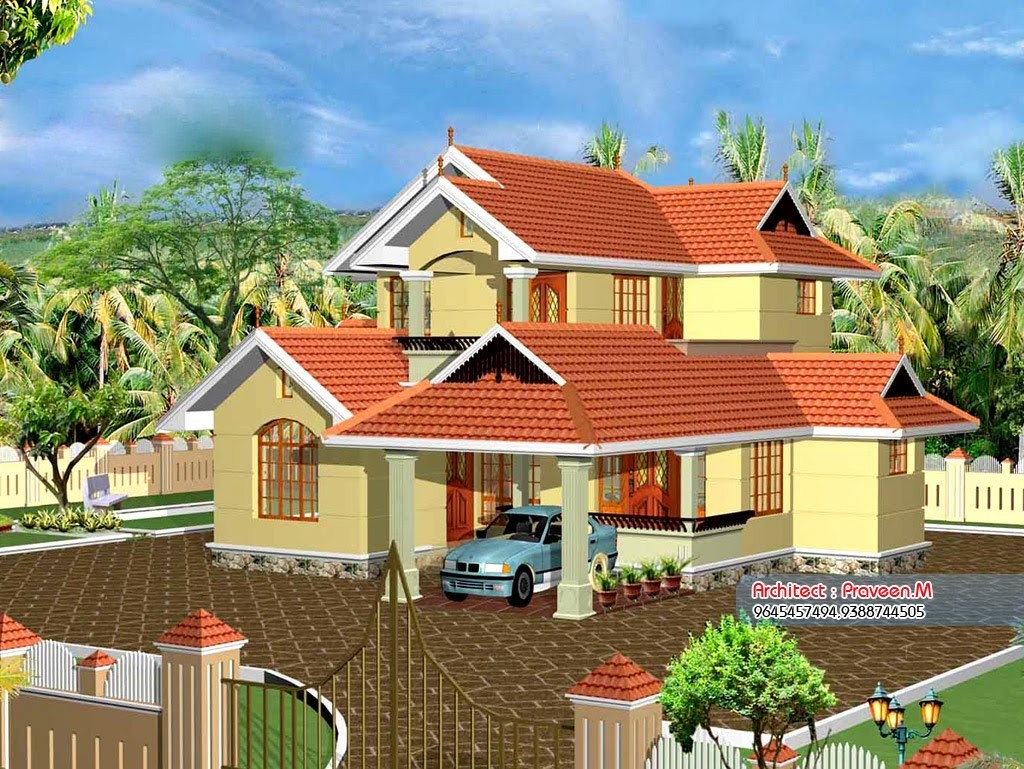 2033 square feet 5bhk kerala beautiful home design with plan home pictures - Kerala beautiful house ...