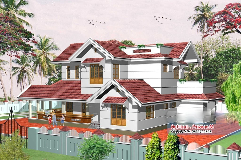 Photo of 2367 Square Feet 4BHK Double Floor Kerala Home Design With Plan