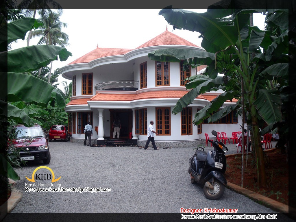 Photo of 2761 Square Feet Semi Circular Shaped Kerala Home Design With Plan