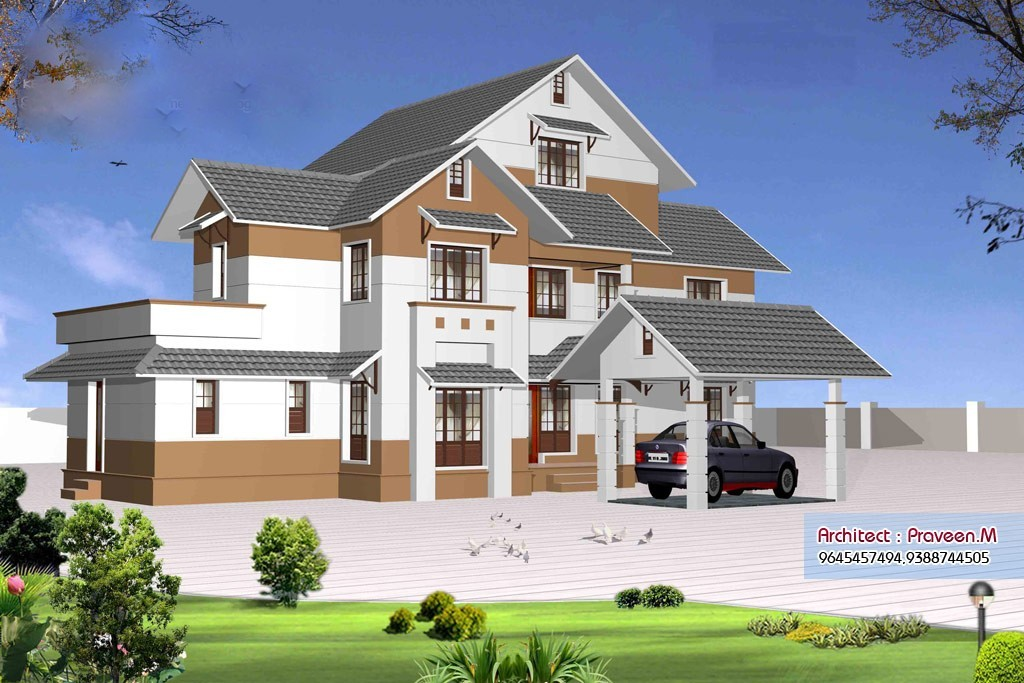 2906 square feet 4bhk kerala home design plan and for Khd home elevation