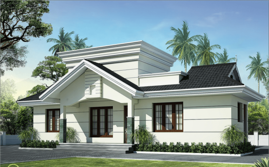 Photo of 991 Square Feet 2BHK Kerala Low Budget Home Design With Plan