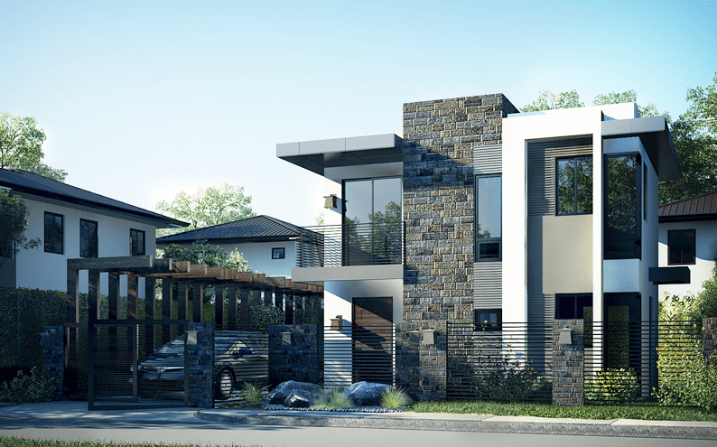 Photo of Double Floor New Modern House Design With Plan