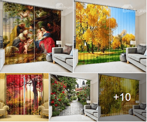 Photo of Amazing 3D curtains Latest Collections