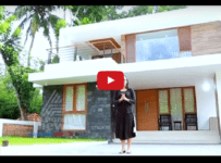 2200 Square Feet Contemporary style 3 Bed Room Home Design