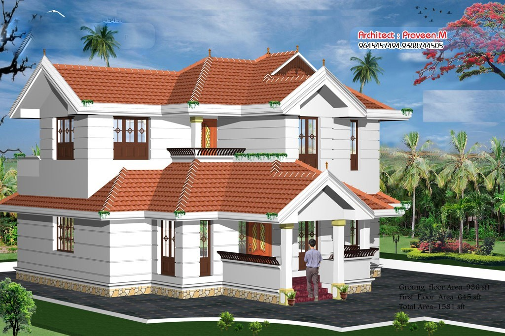 1581 Square Feet 3BHK Kerala Home Design With Plan
