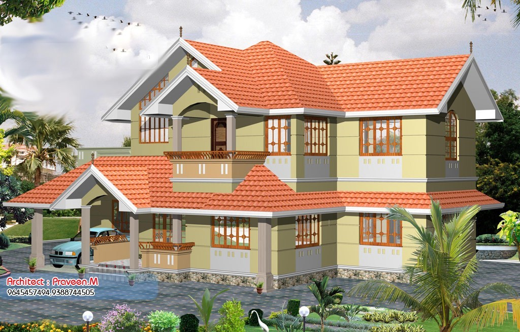2055 square feet 3bhk kerala home design with plan home 3bhk house plan
