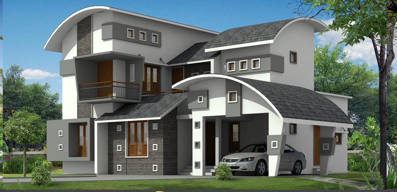 Photo of 2377 Square Feet Contemporary House Plan and Elevation