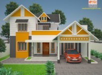 2050 Square Feet 4 Bedroom Contemporary Home Design at 7 Cent Plot