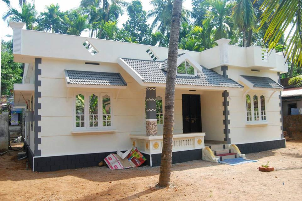 1187 Square Feet 3 Bedroom Low Cost Kerala Style Home Design and Plan