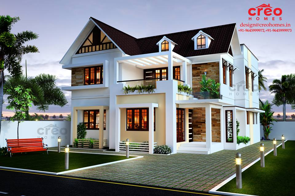 Photo of 2099 Square Feet 4 Bedroom Double Floor Modern Home Design
