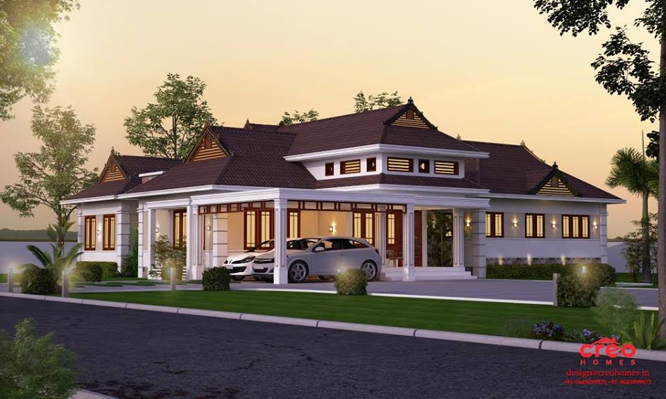 2735 Square Feet 4 Attached Bedroom Single Floor Modern Home Design