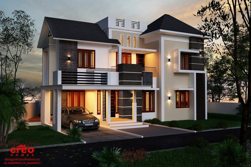 2364 Square Feet 4 Bedroom Beautiful Modern Home Design
