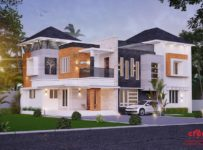 2878 Square Feet 5 Bedroom Modern Amazing Home Design